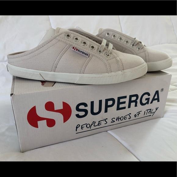 3b5099d0b5ecf Superga Shoes | Mule Sneaker 2288 Gray Seashell 85 395 | Poshmark